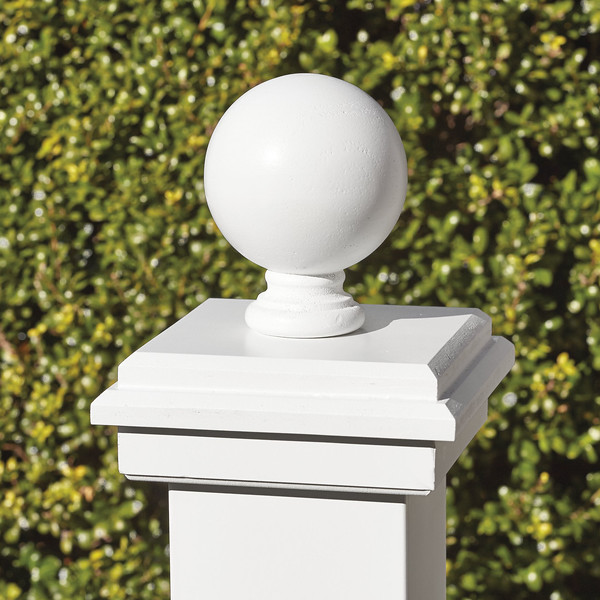 """Colonial Cap with 4"""" Sphere"""
