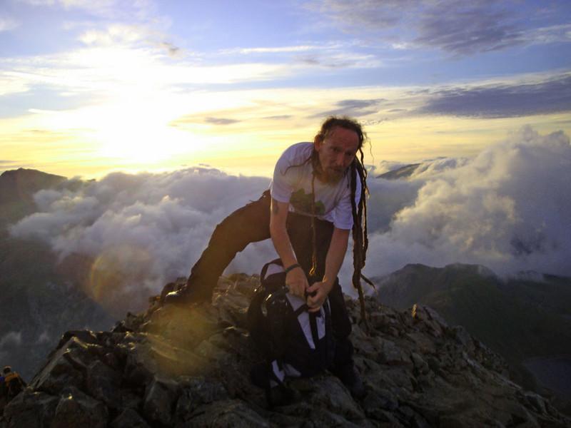 Crib Goch Lee Vegan 15 Peaks Challenge 2010.jpg