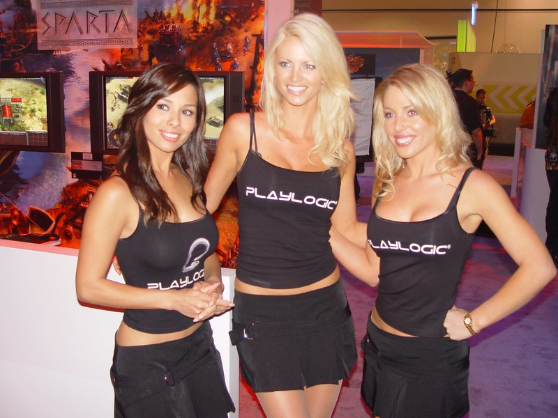 Playlogic booth babes