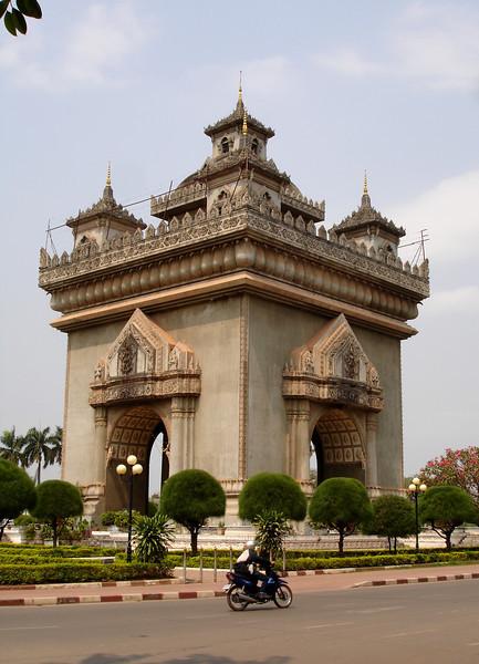 the Patuxai arch, Vientiane