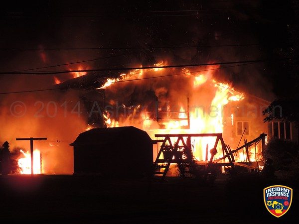 House fire on July 12, 2014
