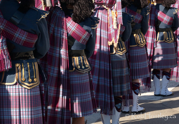 Pipers in the pipe and drum band at the 2009 Remembrance Day Ceremony in Ottawa, Ontario.  © Rob Huntley