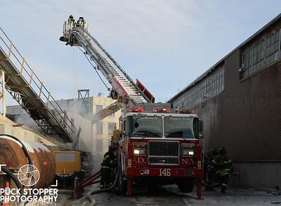 2 Alarm Scrap Yard Fire - 46-26 Metropolitan Ave, Queens, NY - 12/31/17