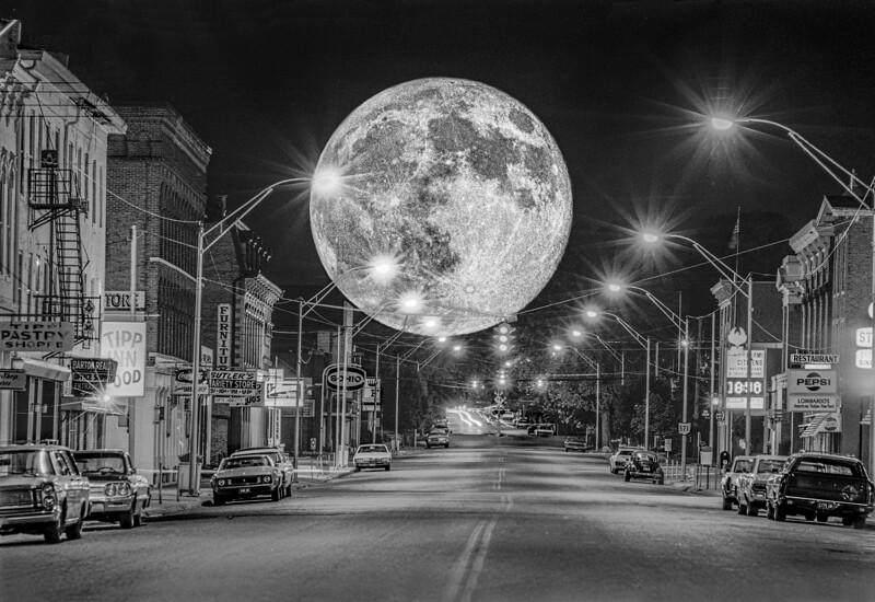 Big moon over Tipp City OH