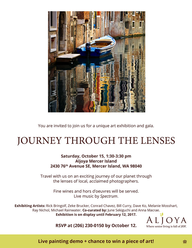 Journey Through the Lenses show flyer