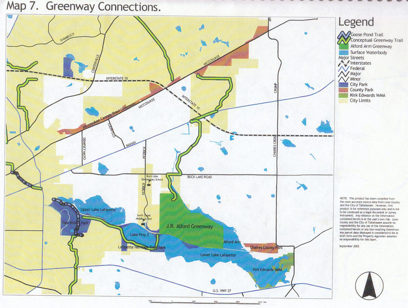 J. R. Alford September 2002 DRAFT Management Plan Map 7: Greenway Connections to area parks and neighborhoods. Ten years later, work continues.