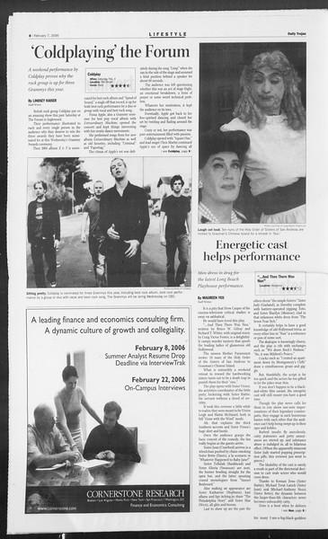 Daily Trojan, Vol. 157, No. 19, February 07, 2006