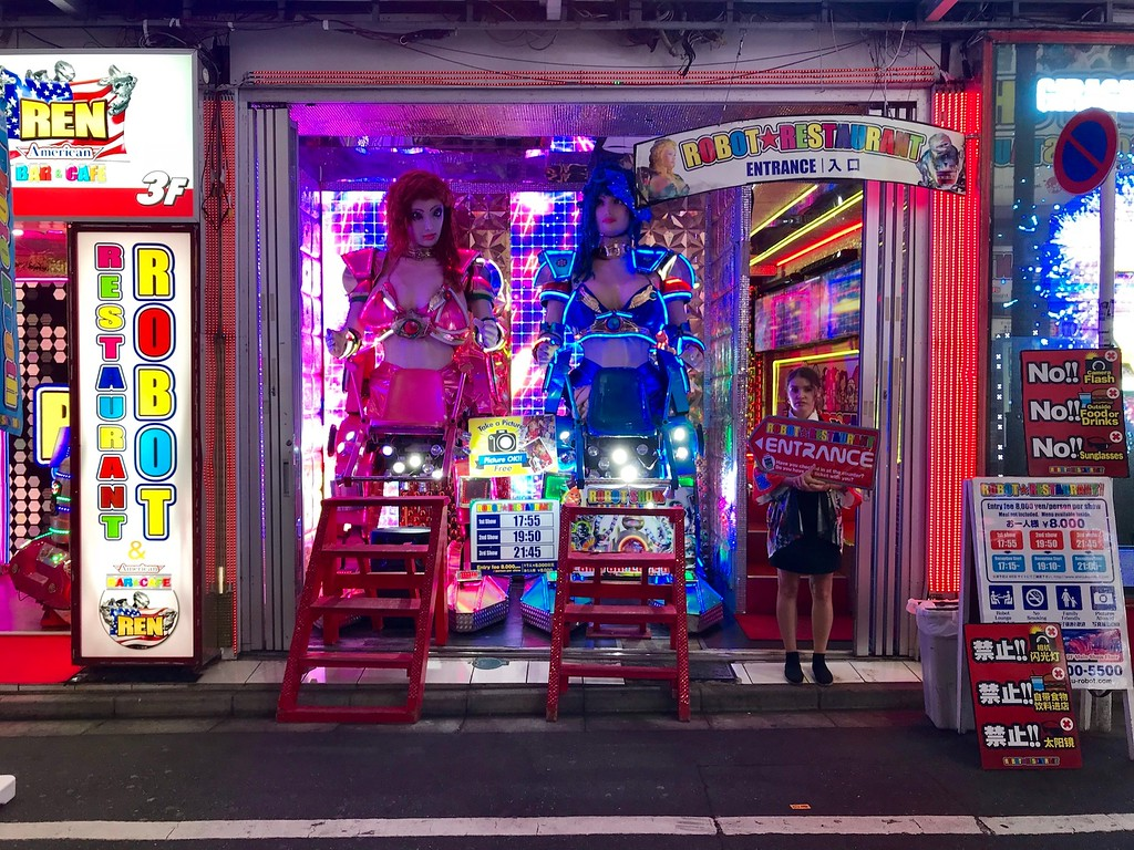 The entrance to the Robot Restaurant.