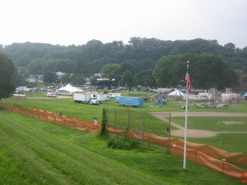 View of Festival from top of dike.