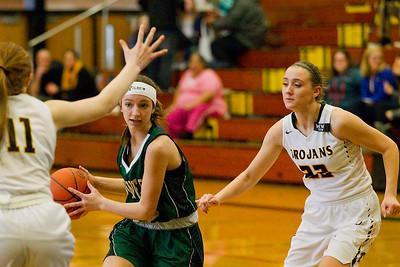 Traverse City Central vs Traverse City West Girls' District Basketball