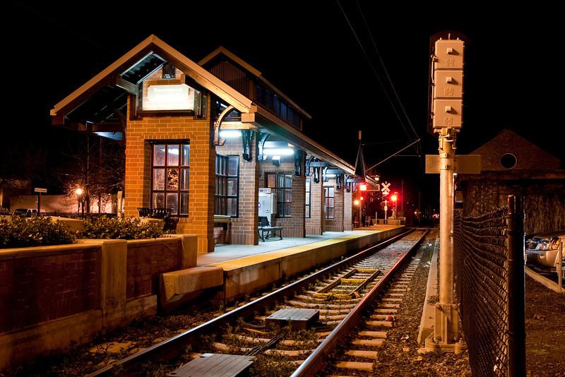 VTA Station at Campbell at night