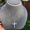 3.24ctw Round Brilliant Diamond Cross 24
