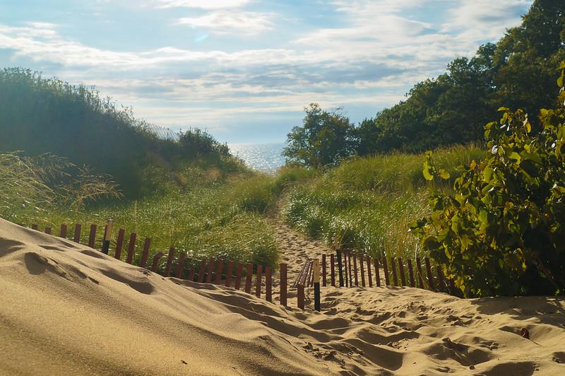 Sand dunes along Lake Michigan in Holland