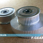 SKU: F-GEAR/X, Pare of Gear of FastColour Printer X-Axis include a 46/80 Teeth Gear and a 46 Teeth Gear for S3M Timing Belt