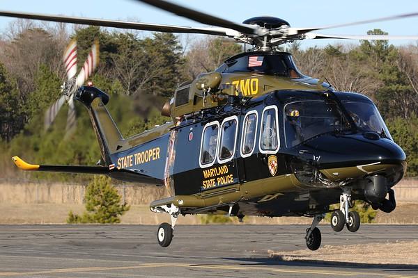 Maryland State Police 2013 Agusta Westland AW-139, Leonardtown, 18Feb18