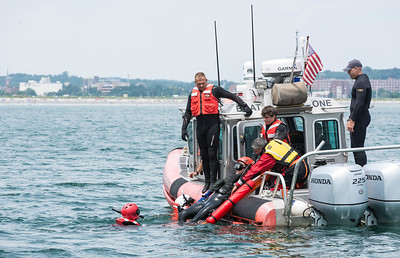 Nahant Fire Department water rescue training