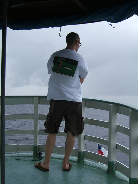 Day 2 - Manaus - Christian looking out at the Rio Negro.