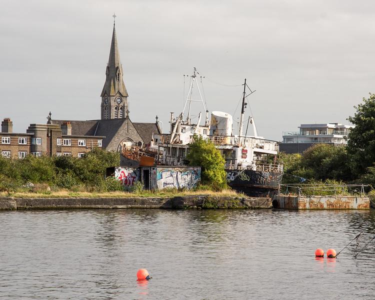 Naomh Eanna in Dublin's Grand Canal Dock