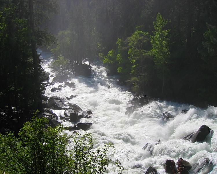 Vernal Falls Runoff, Afternoon Yosemite National Park California