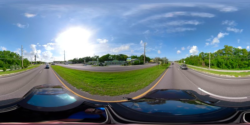 Driving through the Florida Keys 5.2k 360vr spherical footage