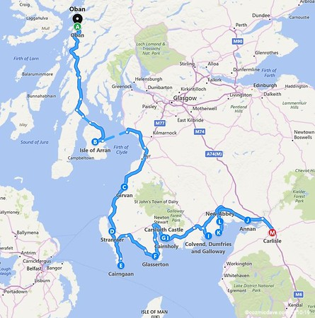 13) Itinerary - Return Journey to Forest Of Dean