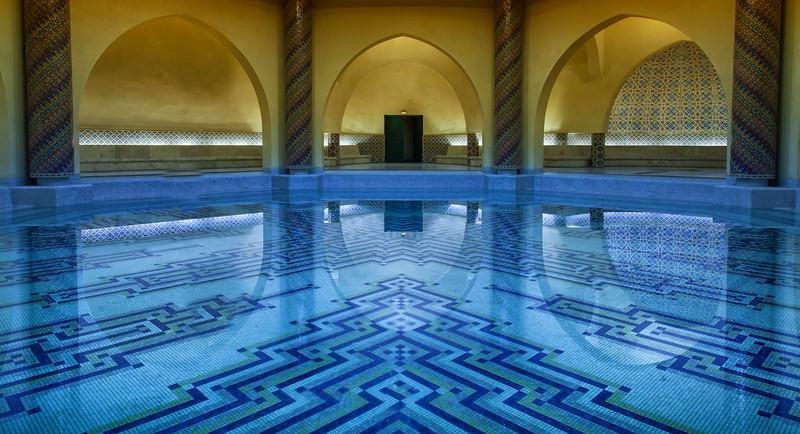 Pool beneath the mosque