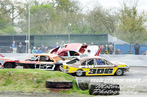 National Saloon Stock Cars - Northampton 14 April 2017