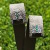 Art Deco Diamond and Emerald Disc Earrings 30