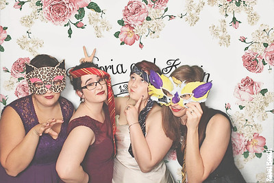 12-29-17 Atlanta Bradford House and Gardens Photo Booth - Victoria and Kevin's Wedding - Robot Booth