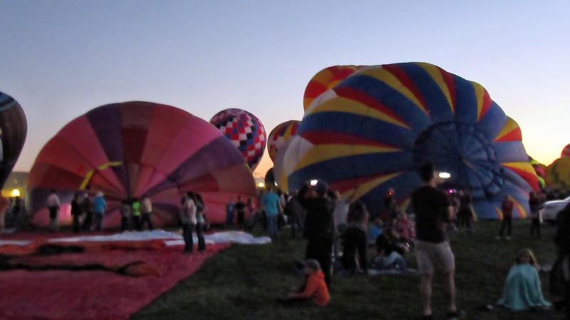 Evening Glow at the Albuquerque 2017 Balloon Fiesta