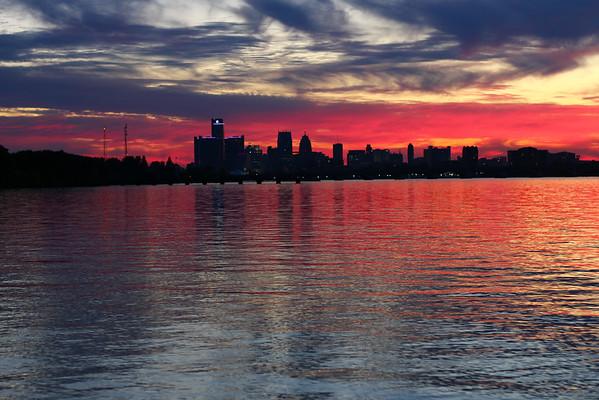Sunset on Belle Isle - 09-27-2014