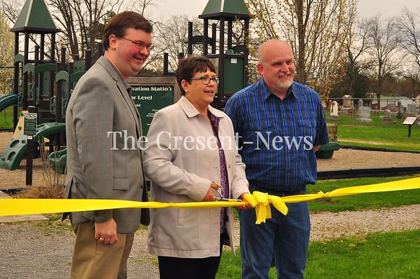 04-27-19 NEWS Sherwood Story Walk Ribbon Cutting