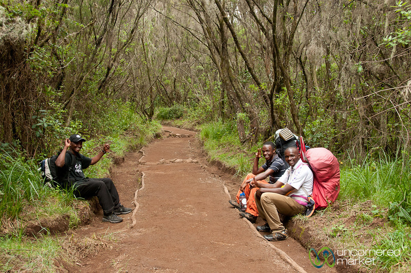 Trekking Guides Take a Break - Mt. Kilimanjaro, Tanzania