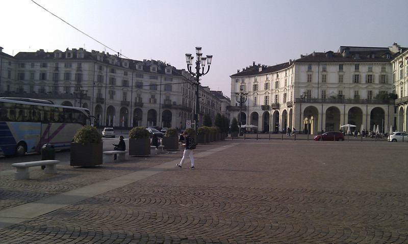 Shot of the buildings in Turin