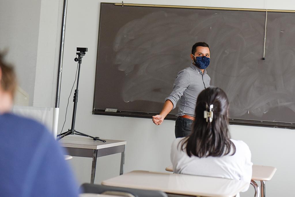 Dr. Amir Moheet teaches his class.