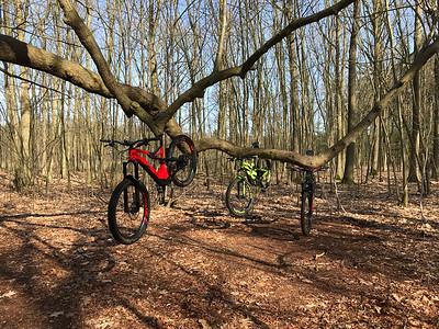 MTB toer - Groene en Zwarte route van Bergen-op-Zoom 06-04-2018