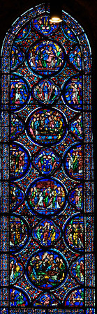 Chartres Cathedral - Death and Coronation of the Virgin