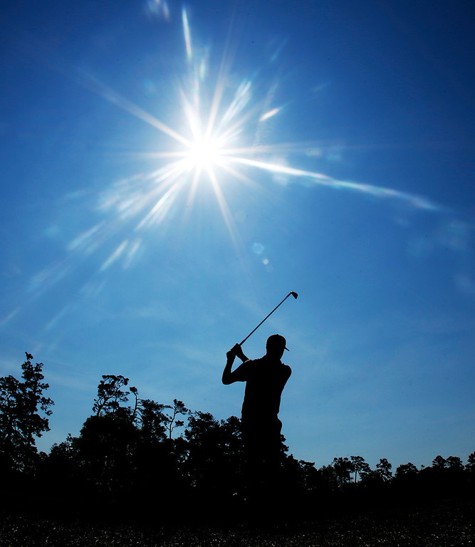 . Chris Kirk hits off the fifth fairway during the second round of the Masters golf tournament Friday, April 11, 2014, in Augusta, Ga. (AP Photo/Matt Slocum)