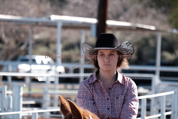 Calif High School Rodeo - District 8 - Brawley Jan 14 2017 Pole Bending