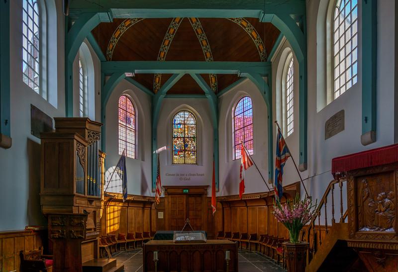 Nice colorful English Reformed Church of Begijnhof.