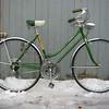 """$240 Schwinn Varsity 10 spd Cruiser #1022504  20"""" frame, 27"""" wheels.  Orig. lighting kit works!  Extra nice."""