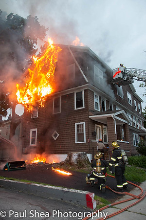 2nd Alarm House Fire - 15 Oberlin St, Worcester, MA - 6/5/18