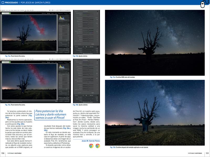 Cómo Revelar fotografía Nocturna con Vía Láctea by Jesús M. García Flores