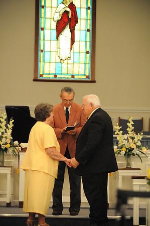 White 50th Wedding Anniversary