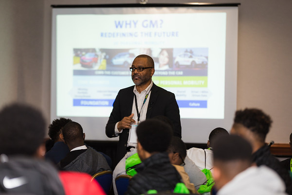 Gerald Johnson speaking to DAPCEP