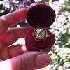 3.12ct Old European Cut Diamond Ruby Halo Ring, GIA L  14