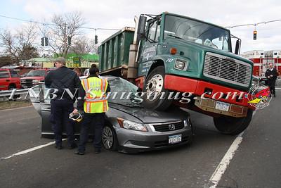 North Lindenhurst F.D.Truck vs Car w/ Entrapment E/B Sunrise Hwy & N Delaware Ave. 3-22-13