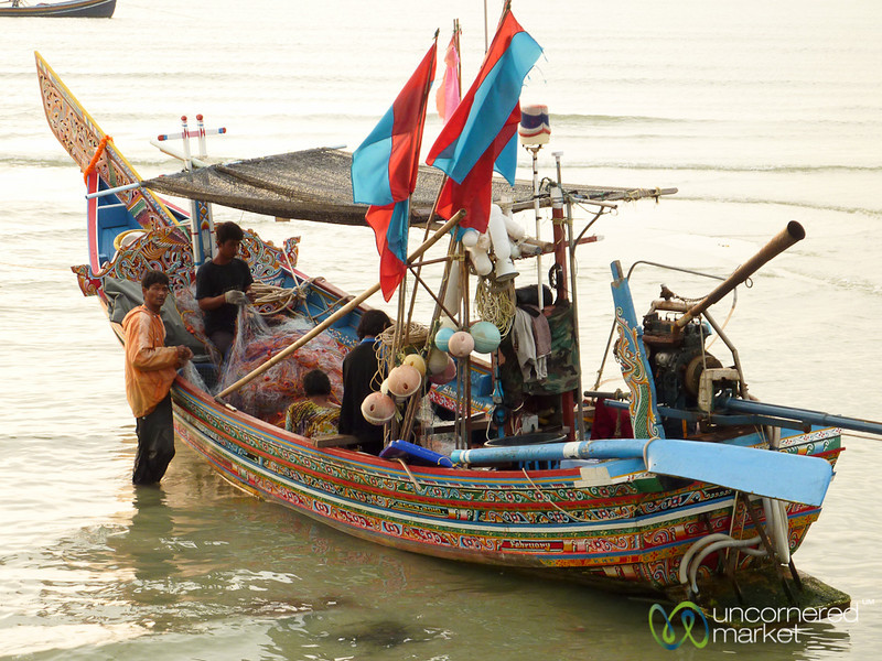 Colorfully Painted Fishing Boat - Koh Samui, Thailand
