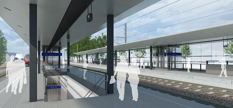 Bahnhof Lauterach Bahnsteig