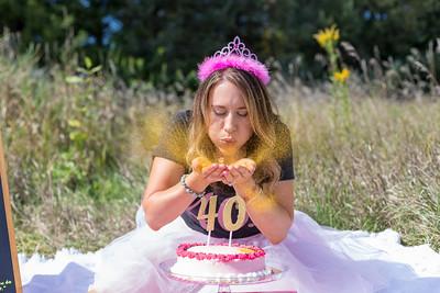 Jesse 40th Birthday Smash Cake